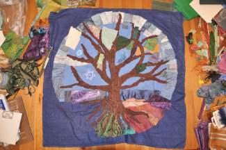 Our in-progress Torah tapestry