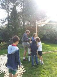Last year, we build the sukkah on a beautiful day, hope it's as nice this year!