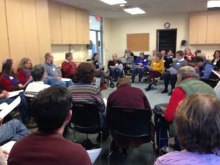 Rabbi Michael leads text study