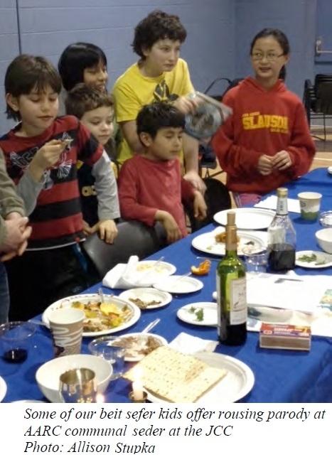 Beit Sefer Kids at Seder 2013