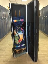 Our traveling Torah is dressed and ready to roll.