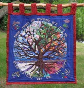 Torah Table tapestry at Ann Arbor Reconstructionist Congregation