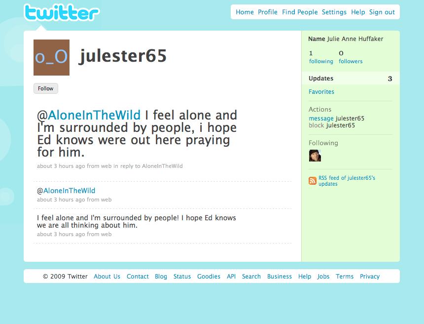 Alone in the Wild Twitter screenshot 3