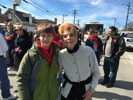 Aaron Hanania with the late Illinois Treasurer Judy Baar Topinka