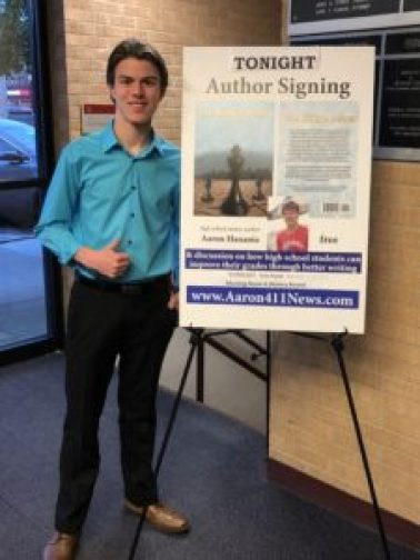 "Aaron Hanania author signing for his book ""The King's Pawn"" at the Oak Lawn Library Oct. 25, 2018"