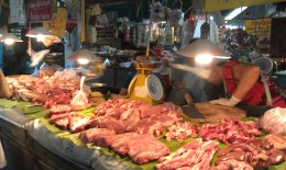 The quality and freshness of the meat in this market was immaculate.