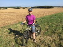 Nicky cycling in Lincolnshire