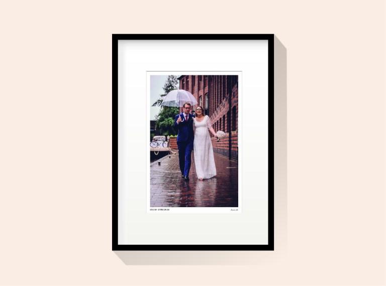Framed signed photography artwork