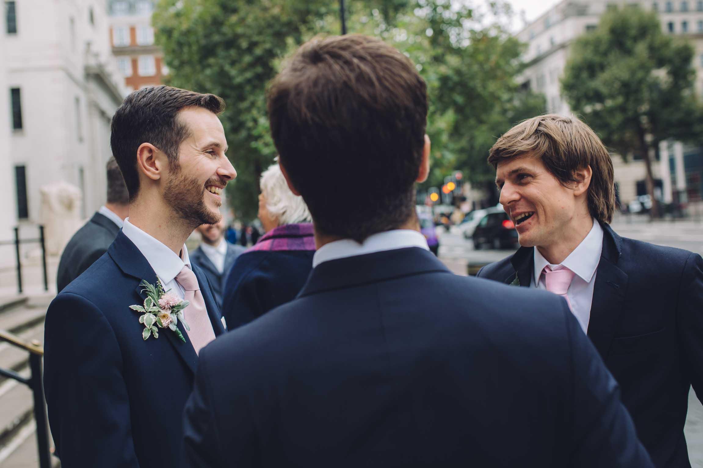 Outside London Wedding