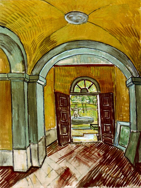 Color print of Van Gogh's painting of an asylum