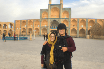 Amir Chakmaqh complex, yazd, iran trip, mother and son