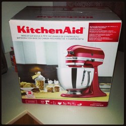 Picture of my KitchenAid Mixer gift