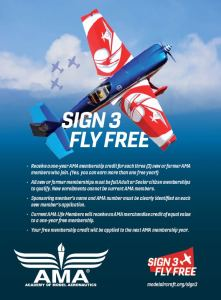 Sign 3 Fly Free Ad