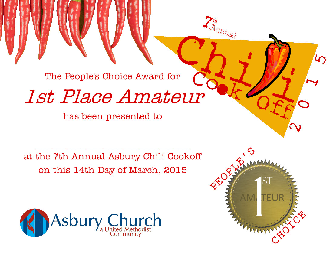 Aaron j forney asbury church chili cook off xflitez Choice Image