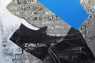 Ozymandias. Acrylic and oil on canvas. 74″x 50.5″. 2014.
