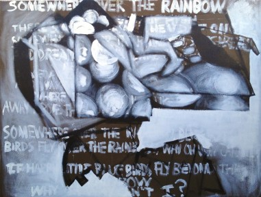 Somewhere over the Rainbow. Acrylic and oil on canvas. 66″x 50.5″. 2014.