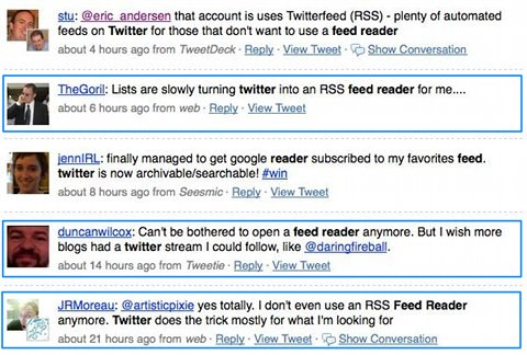 "Search results for ""twitter feed reader"""