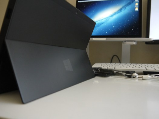 Surface with Integrated Stand