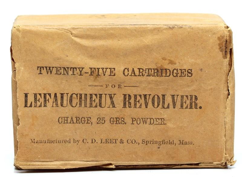 C. D. Leet Pinfire Box