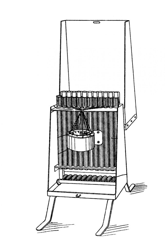 Patent Drawing of Hall's Automatic Clock Gun