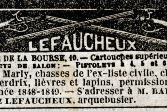 Casimir Lefaucheux advertisement from the October 3, 1848 issue of the Journal Des Débats