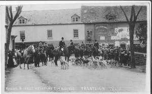Fox Hunt with Millichamp Field Clock Gun Works sign in background