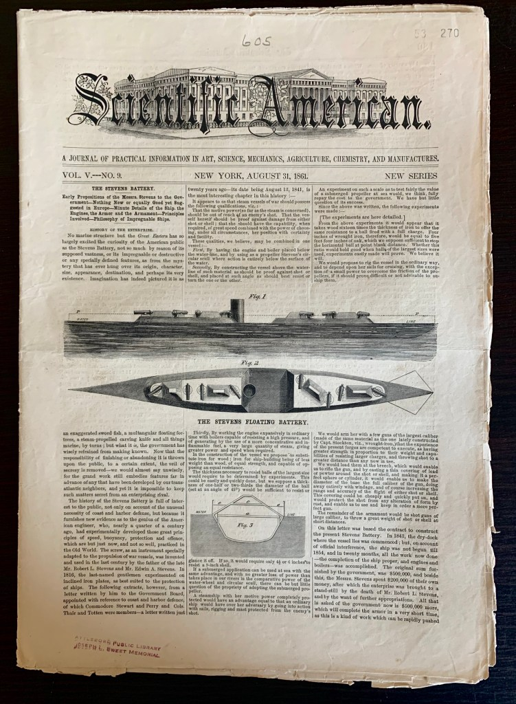 August, 31 1861 issue of The Scientific American