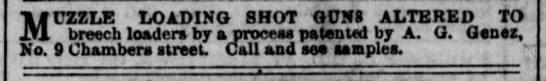 A. G. Genez Muzzle Loading Shot guns altered
