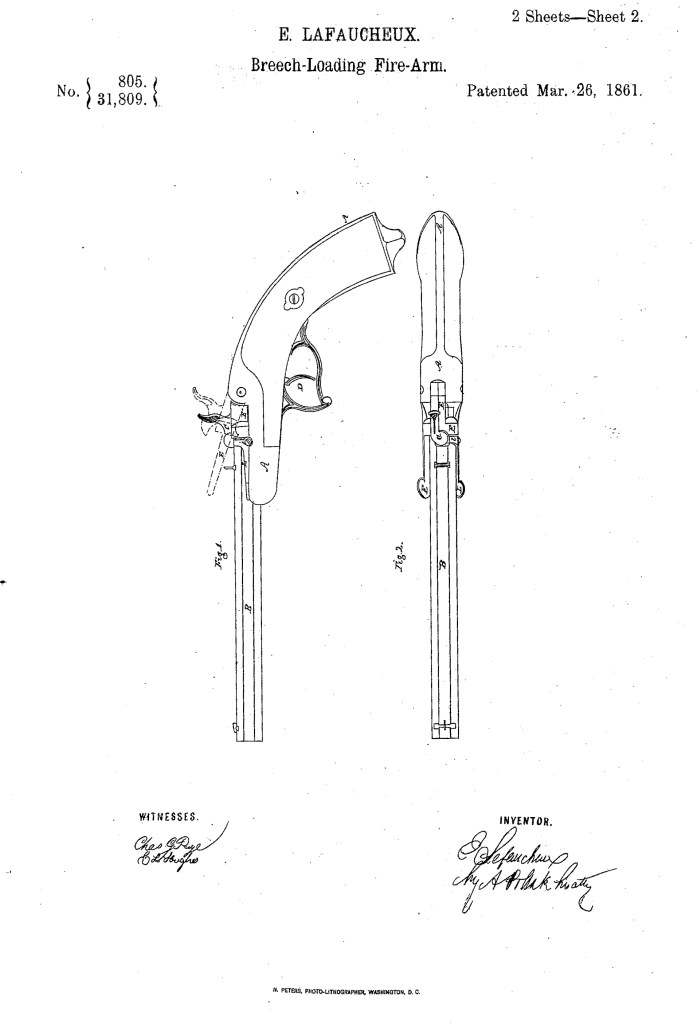Eugène Lefaucheux US patent number 31,809 on 26 March 1861 - Page 4
