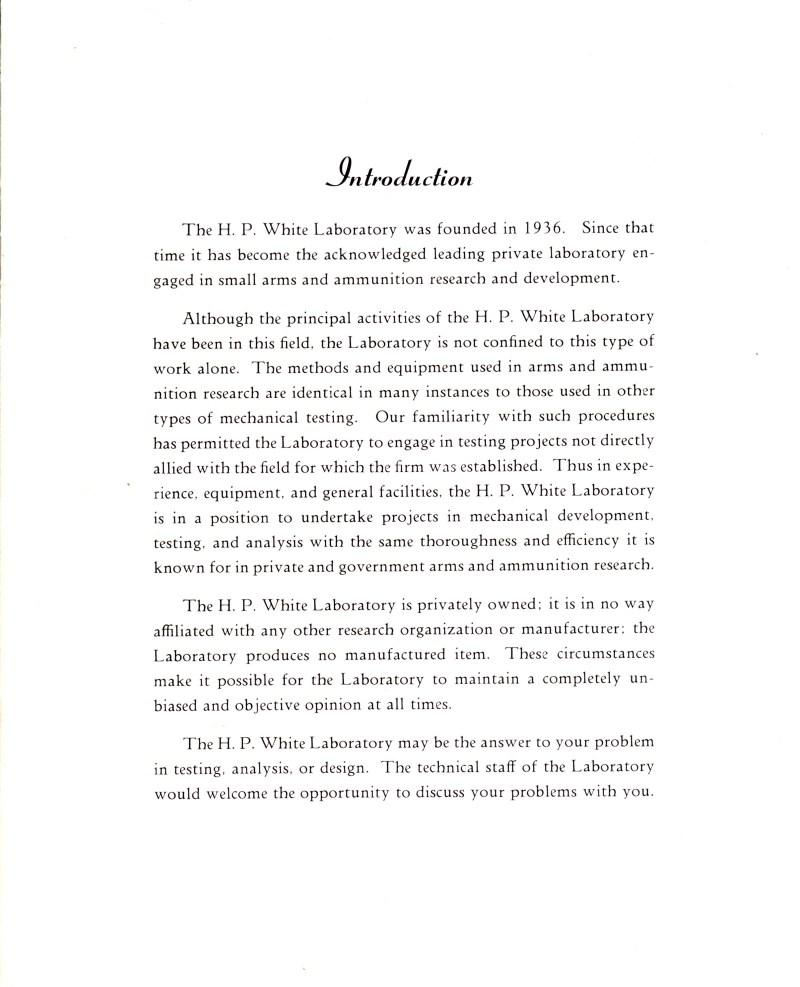 White & Munhall Laboratory Sales Brochure Page 3