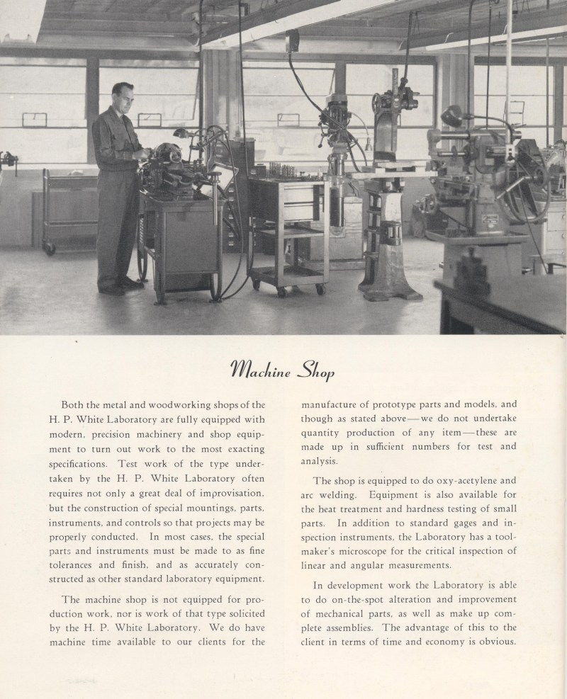 White & Munhall Laboratory Sales Brochure Page 8