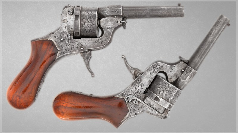 """9mm """"Baby"""" Perrin Revolver Marked PERRIN & Cie Bte"""