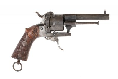 German Proofed 9mm Pinfire Revolver