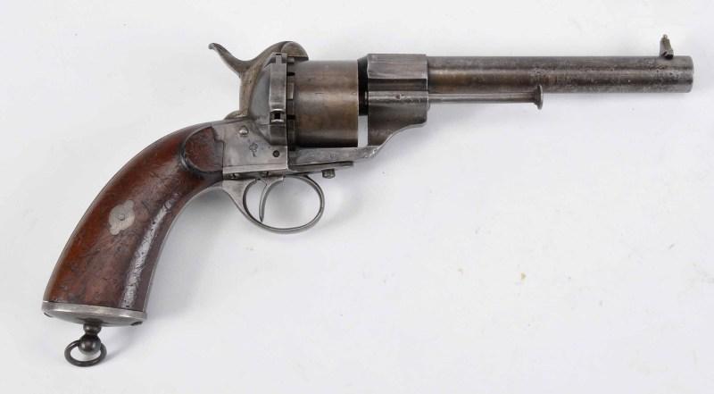 Kongsberg Våpenfabrikk produced pinfire revolver following Lefaucheux's 1854 pattern