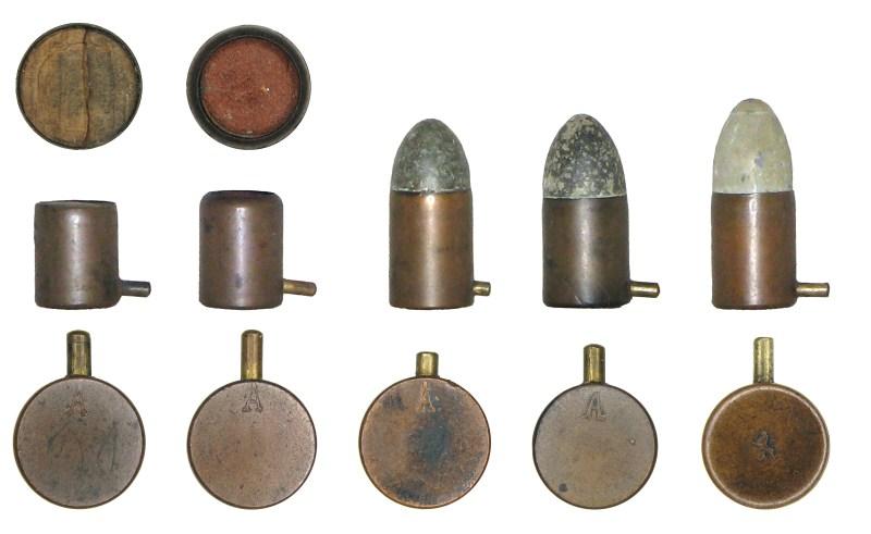 Norwegian pinfire cartridges