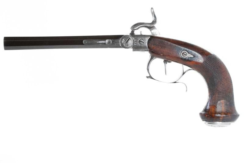 1827 Pauly-style percussion pistol by Casimir Lefaucheux