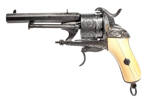 Belgian Lefaucheux-made 12mm Pinfire Revolver following the French Chamelot & Delvigne patent
