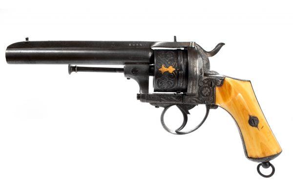 Belgian Pirlot Frères Pinfire Pistol