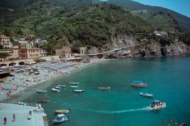 """The """"second beach"""" at Monterosso."""