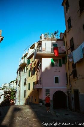 On the main road into Riomaggiore