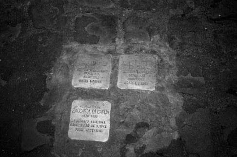 Memorial plaques from the Holocaust