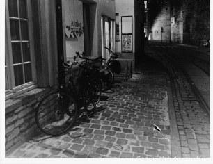 Bikes at a cafe - classic Belgium!