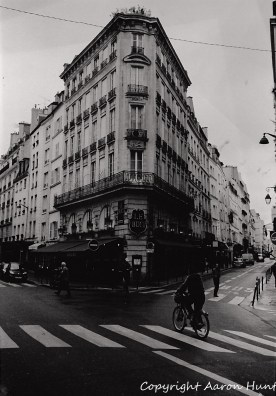 Triangular buidling near Gare du Nord in Paris.