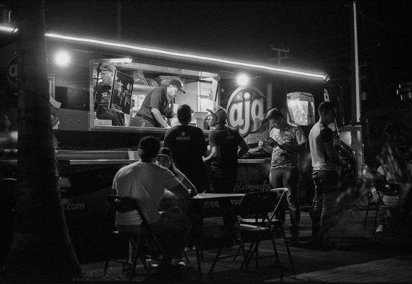 Food Trucks at Night