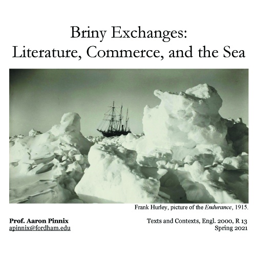 BrinyExchanges: Literature, Commerce, and the Sea