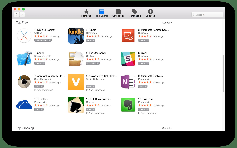 Apple's App Store - Top Free
