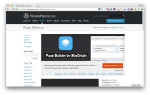 Page Builder by SiteOrigin in the Repository Picture