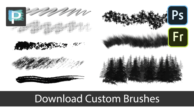 download custom brushes for corel painter, photoshop and adobe fresco