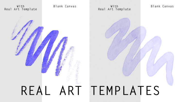 Real Art Templates for Digital Art