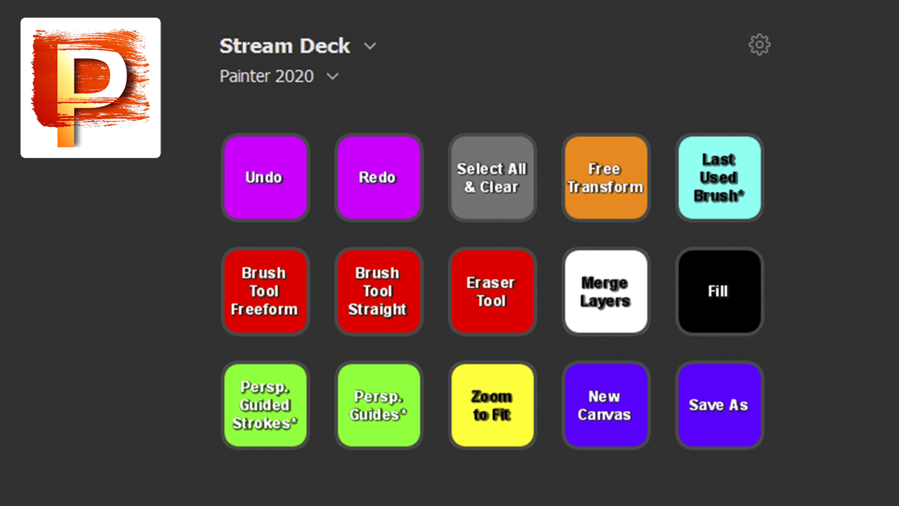 corel painter stream deck profile